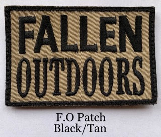 Fallen Outdoors Patch Black/Tan (Velcro)