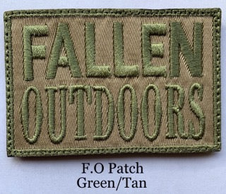 Fallen Outdoors Patch Green/Tan (Velcro)