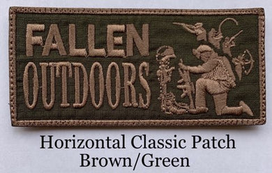 Horizontal Classic Patch Brown/Green (Velcro)
