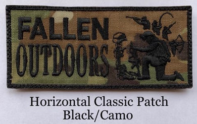 Horizontal Classic Patch Black/Camo  (Velcro)
