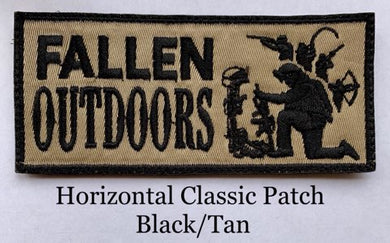 Horizontal Classic Patch Black/Tan (Velcro)
