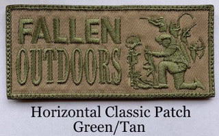 Horizontal Classic Patch Green/Tan (Velcro)