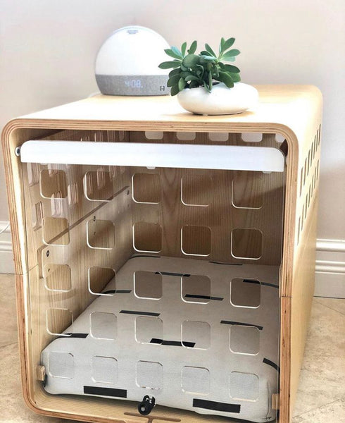 dog crate with LAY LO dog bed