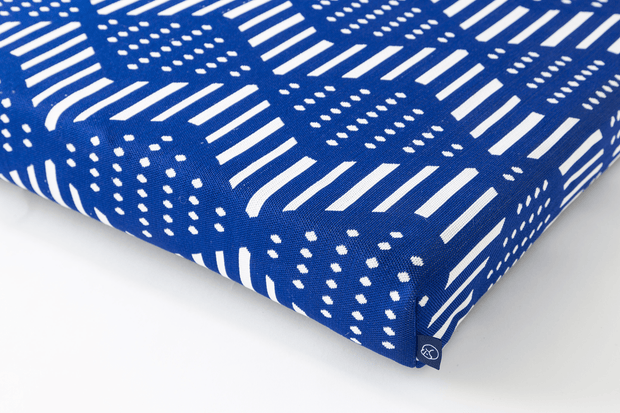LAY LO Pets - Blue Bogolan Boho Dog Bed or Bed Cover 1