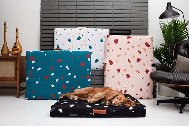 LAY LO - Black Terrazzo Mid-Century Modern Dog Bed or Bed Cover 1