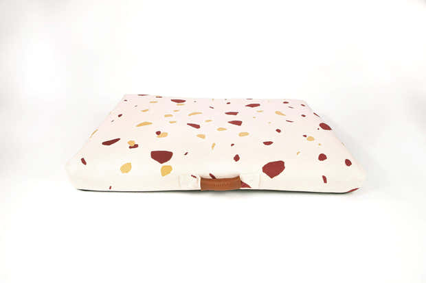LAY LO - Pink Terrazzo Mid-Century Modern Dog Bed or Bed Cover 1