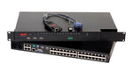 EE2-2X8U - Rose UltraMatrix 2XE 2x8 Chassis Multi-Platform KVM Switch