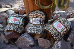 MJ Custom Leather Logo Hats!!(Cheetah)