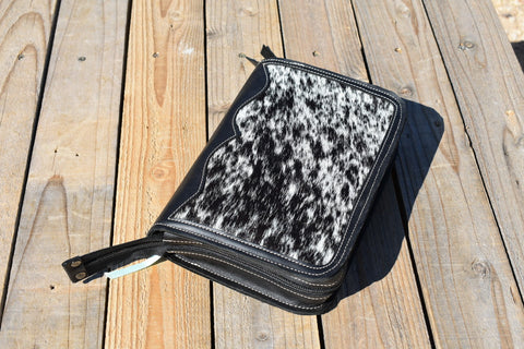 Cowhide and Leather bible case!