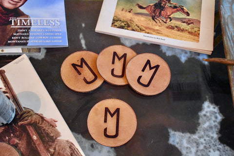 Custom Leather coasters