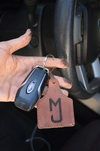 Custom Cattle Tag keychain