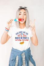 Load image into Gallery viewer, 4th of July HotDog Tee