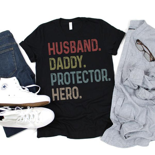 Husband Daddy Protector Hero T-Shirt