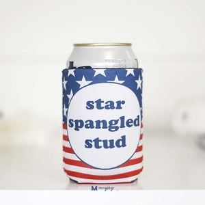 Star Spangled Stud Insulated Can Holder