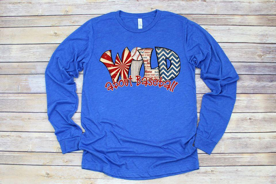 Wild About Baseball Long Sleeve Tee
