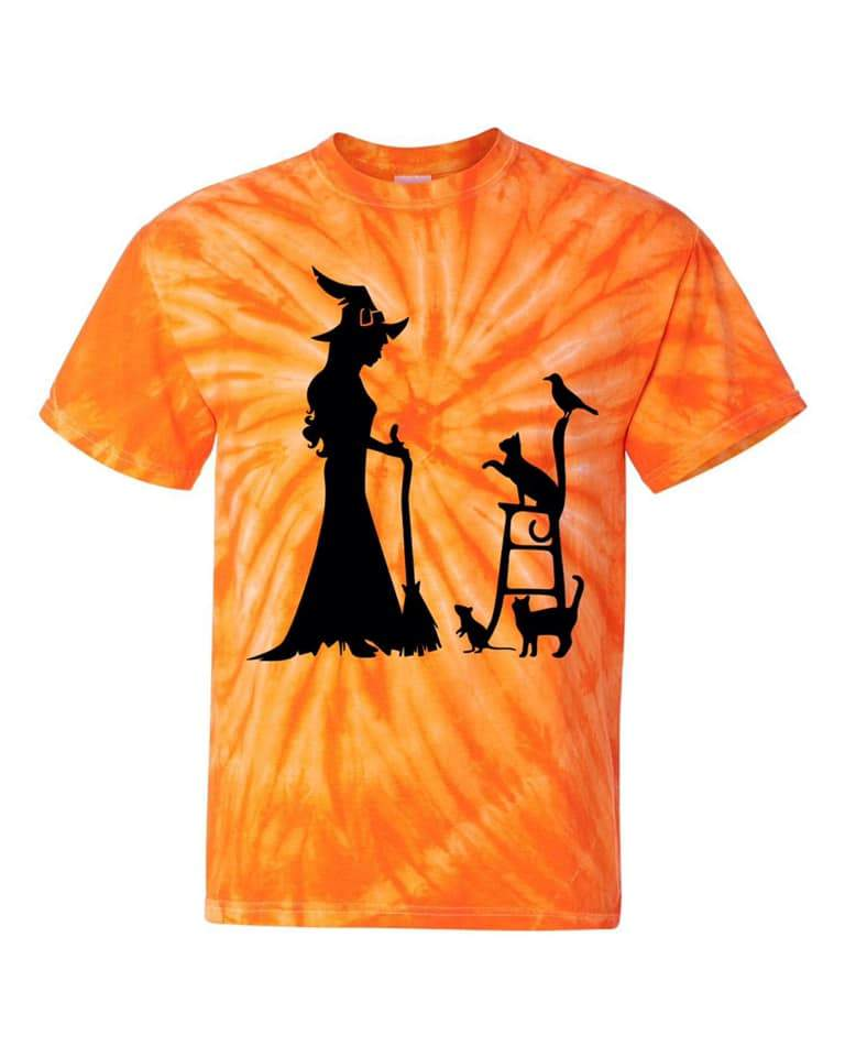 Witch And Cats Silhouette Tee