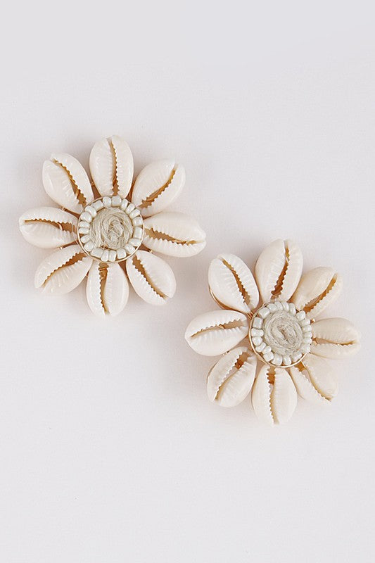 Seashell Flower Earrings