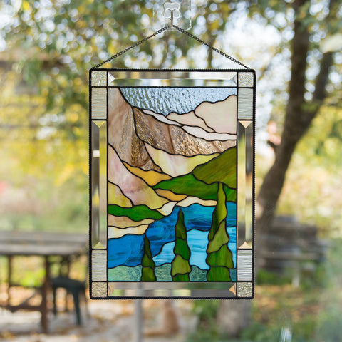 how to hang stained glass on window
