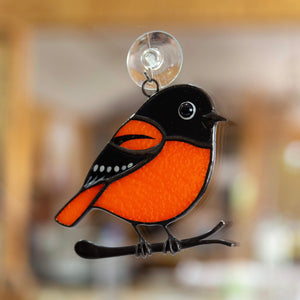 Baltimore Oriole stained glass lovely home decoration