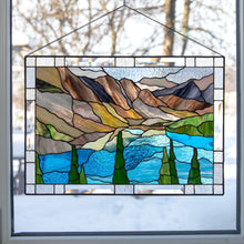 Load image into Gallery viewer, Stained glass Banff national park panel for wall