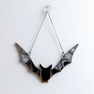 Flying stained glass bat for Halloween decoration