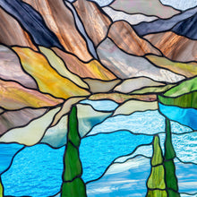 Load image into Gallery viewer, Zoomed stained glass Banff national park panel