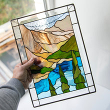 Load image into Gallery viewer, Banff national park panel of stained glass