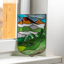 Load image into Gallery viewer, Estes Park stained glass window hanging panel