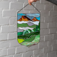 Load image into Gallery viewer, Stained glass Estes Park window panel