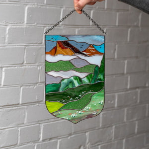 Stained glass Estes Park window panel