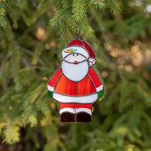 Load image into Gallery viewer, Santa Claus suncatcher as a New Year Tree decoration