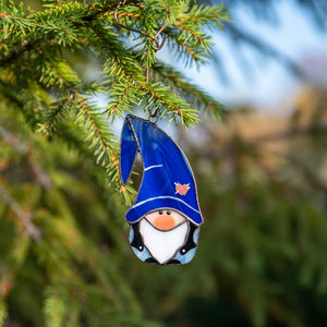 Stained glass boy gnome as a New Year Tree decoration