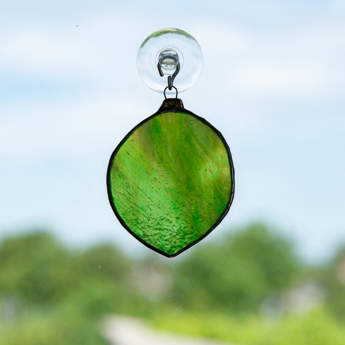 Suncatcher of a stained glass lime for kitchen
