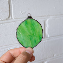 Load image into Gallery viewer, Lime suncatcher of stained glass