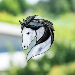 Suncatcher of stained glass horse