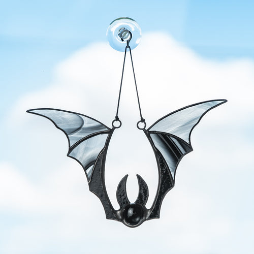 Halloween black bat window hanging horror decor