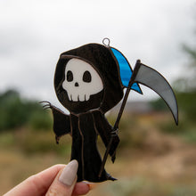 Load image into Gallery viewer, The spooky Grim Reaper suncatcher for window