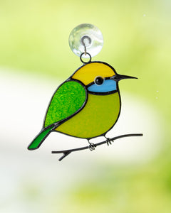 Hummingbird stained glass bird suncatcher Bee eater