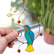Load image into Gallery viewer, Hummingbird sitting on the branch suncatcher