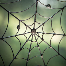 Load image into Gallery viewer, Zoomed round spider web Halloween spooky decoration