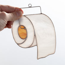Load image into Gallery viewer, Toilet paper sin catcher of stained glass for home decor
