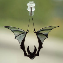 Load image into Gallery viewer, Horror decor black bat window hanging