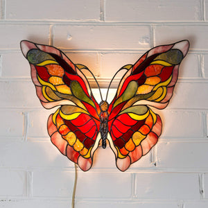 Stained glass monarch butterfly lamp Tiffany accent lamp hanging wall sconce Modern bedside lamp