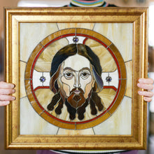 Load image into Gallery viewer, Portrait panel of Jesus Christ of stained glass