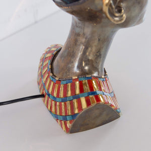 Back-view of stained glass Nefertiti's necklace