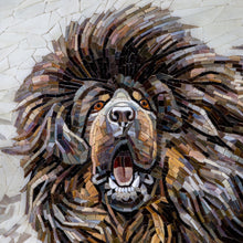 Load image into Gallery viewer, Custom dog portrait Stained glass mosaic wall art Tibetan Mastiff Custom portrait Custom pet portrait Pet loss gifts Dog lover gift