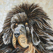 Load image into Gallery viewer, Zoomed stained glass snout of Tibetan Mastiff