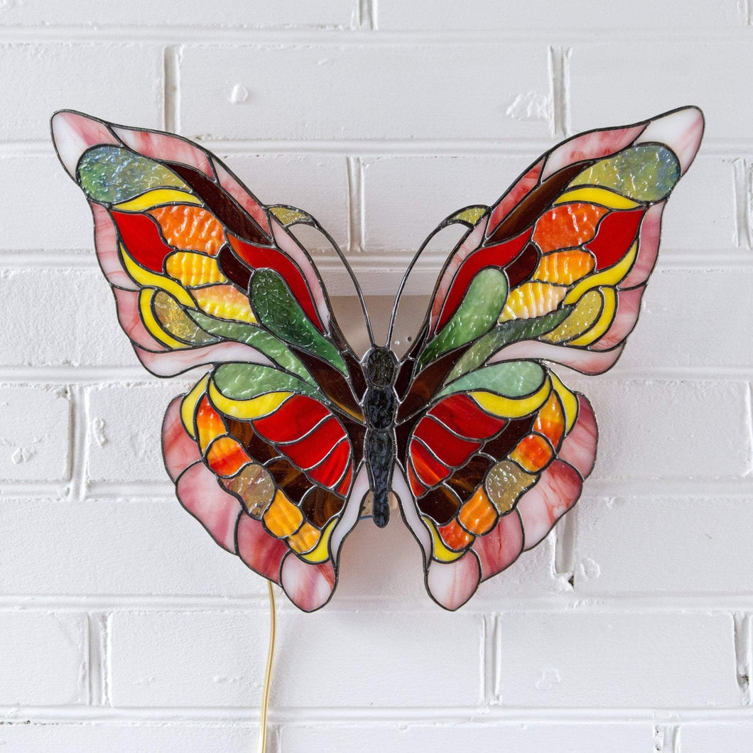 Bright butterfly wall hanging lamp