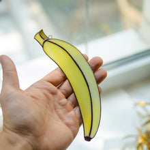 Load image into Gallery viewer, Stained glass suncatcher in the form of banana