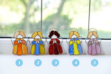 Load image into Gallery viewer, Numbered stained glass angels
